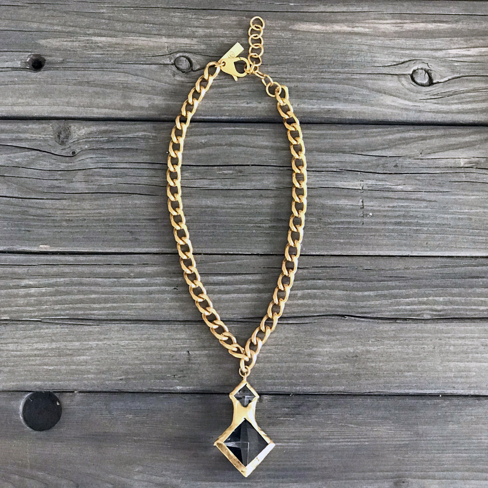 Kenzie 18 Karat Gold Crystal Necklace