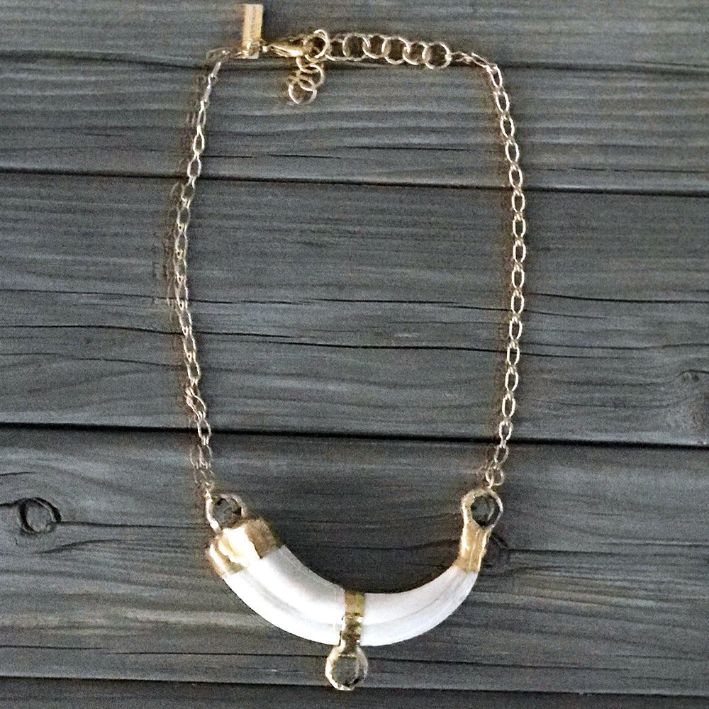 Payton 18 Karat Gold African Tusk Necklace