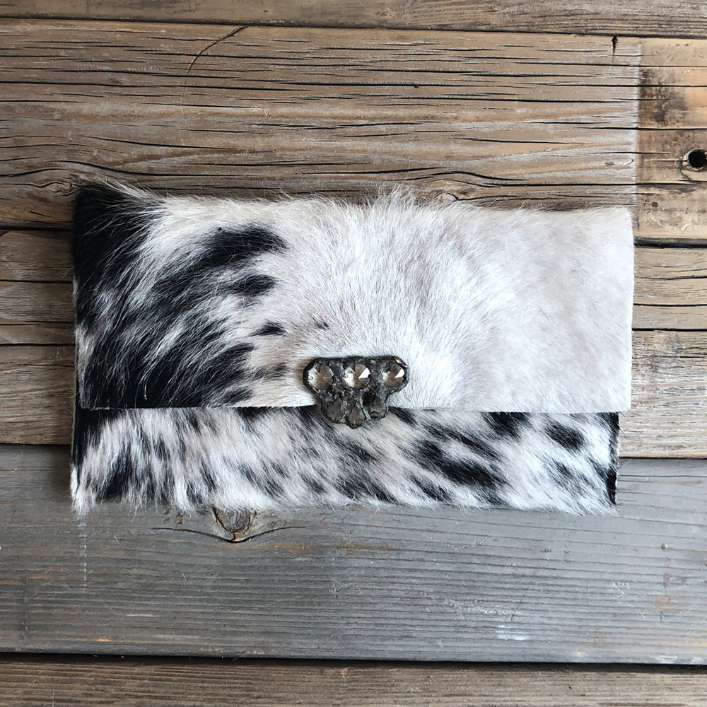 Farah Zebra Black & White Wallet/Clutch