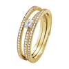 HALO SOLITAIRE RING - 18 KT. GULD, FULD PAVÉ