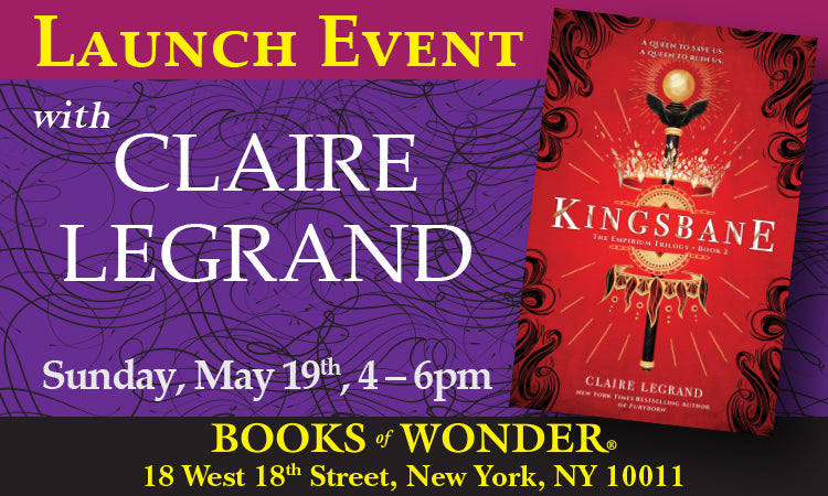 LAUNCH EVENT for Kingsbane with CLAIRE LEGRAND