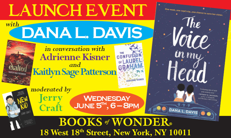 LAUNCH EVENT for The Voice in My Head by DANA L. DAVIS in conversation with ADRIENNE KISNER and KAITLYN