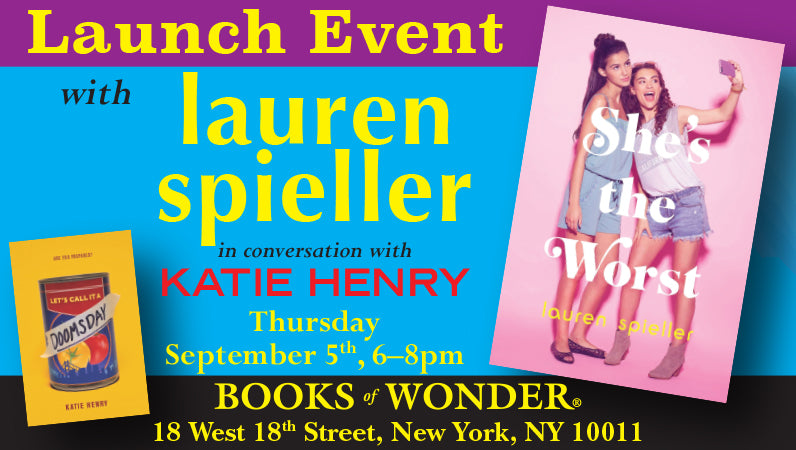 LAUNCH EVENT for She's the Worst by Lauren Spieller