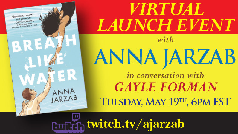 Launch Event with Anna Jarzab for Breath Like Water in conversation with Gayle Forman