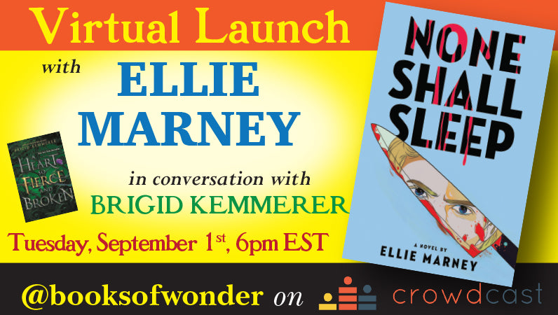 Launch Event for None Shall Sleep by Ellie Marney in conversation with Brigid Kemmerer