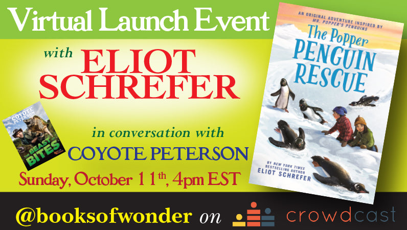 Launch Event for The Popper Penguin Rescue by Eliot Schrefer