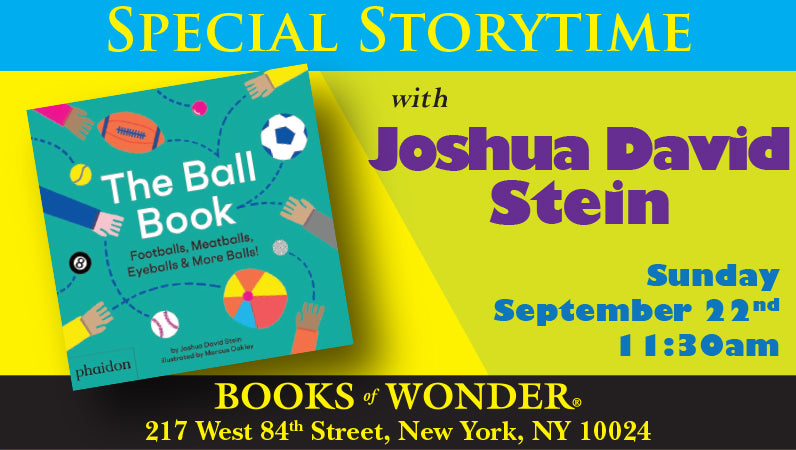 Special Storytime with Joshua David Stein