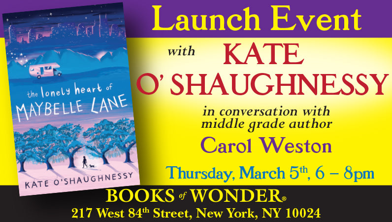 Launch Event for The Lonely Heart of Maybelle Lane by Kate O'Shaughnessy
