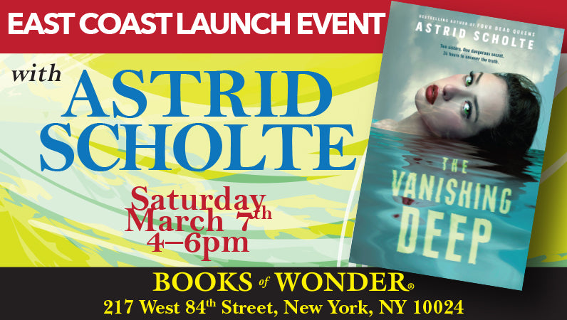 East Coast Launch Event for The Vanishing Deep by Astrid Scholte
