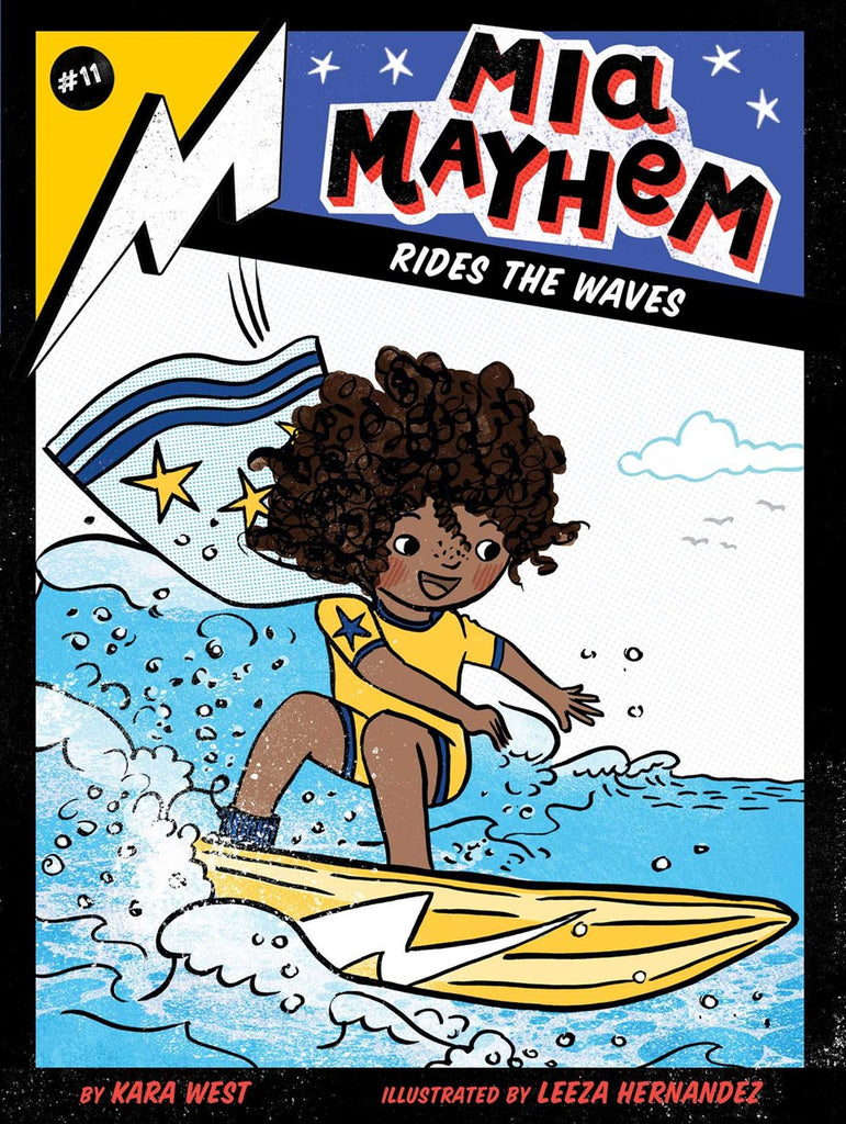 Mia Mayhem Rides the Waves