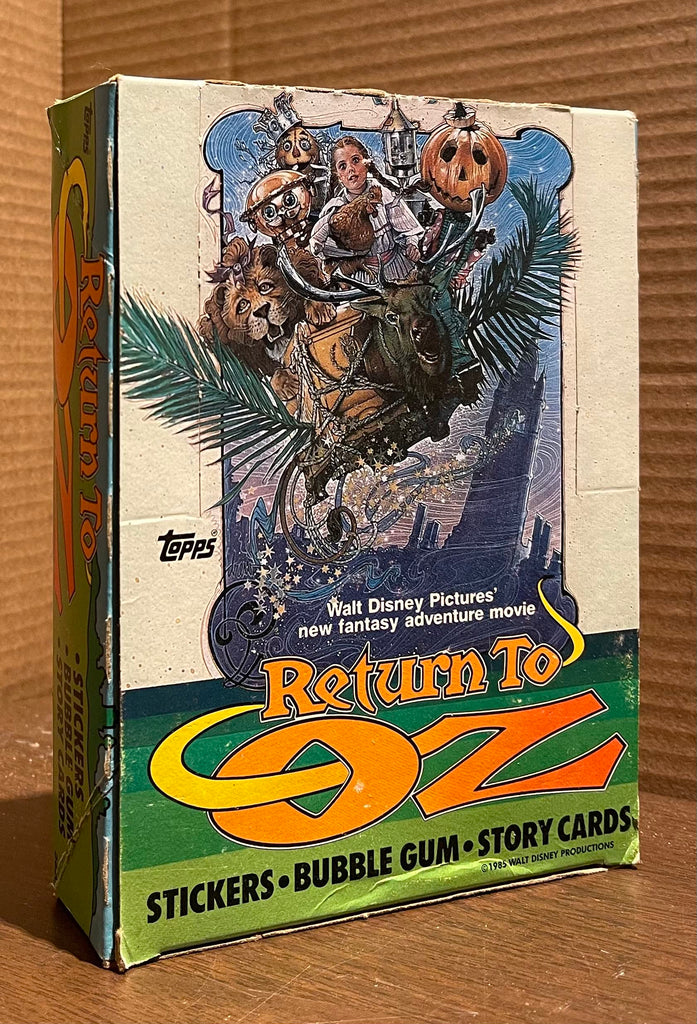 Return to Oz Sticker, Bubble Gum, and Story Card Sets in original promotional display box