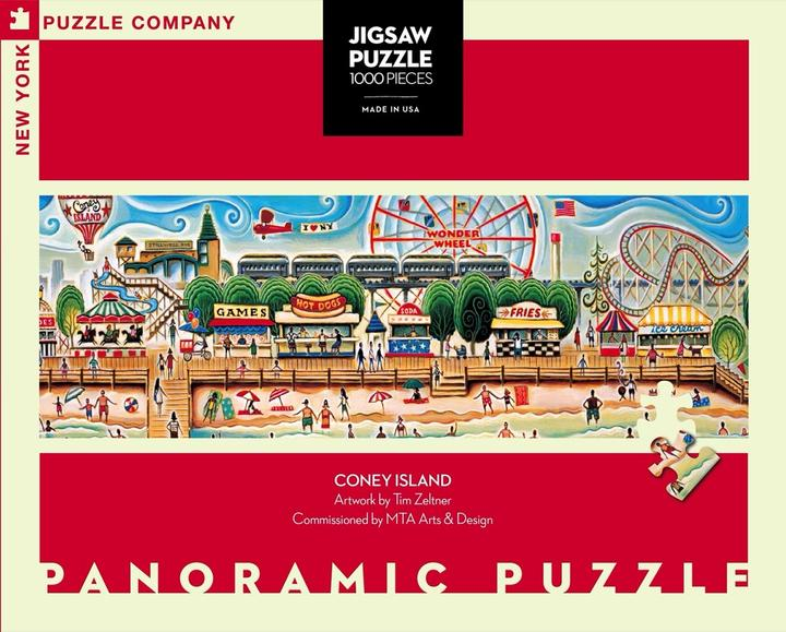 Coney Island 1,000 Piece Panoramic Puzzle