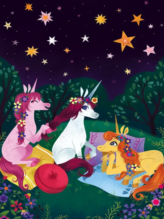 First Sleepover Uni the Unicorn 100 Piece Puzzle