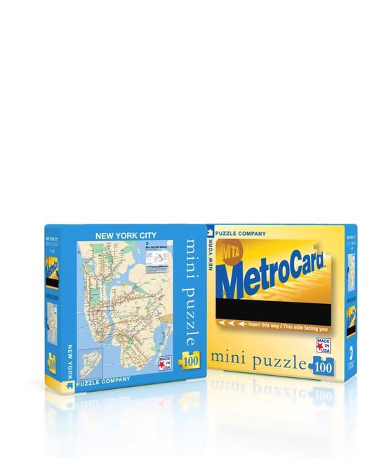 New York Subway Map Mini 100 Piece Puzzle