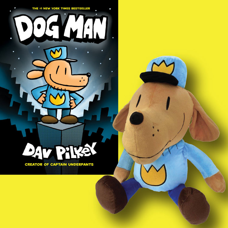 Dog Man Box Set 1-3 with Dog Man Doll