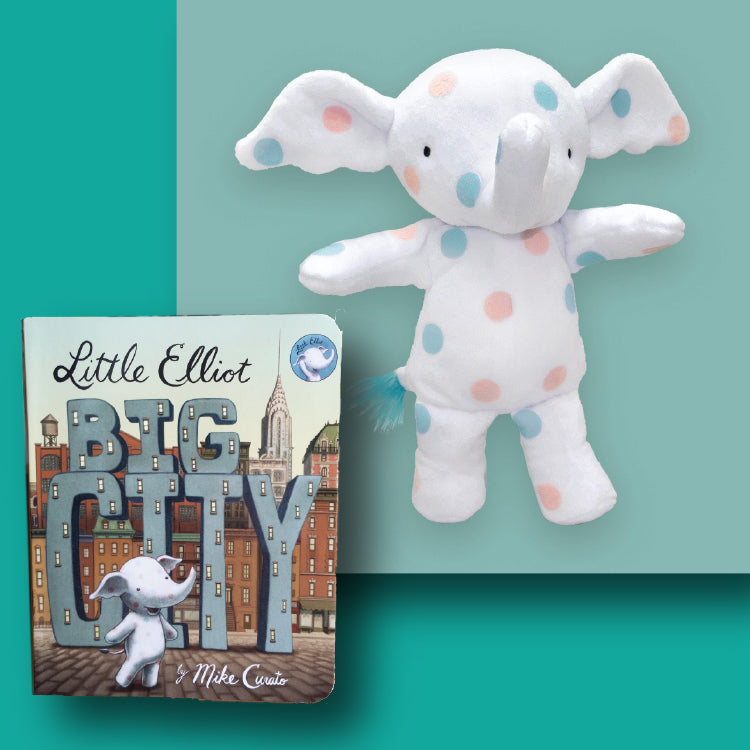Little Elliot, Big City Board Book & Plush Doll Set