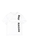 Barragán Cut-Out Logo Tee, White