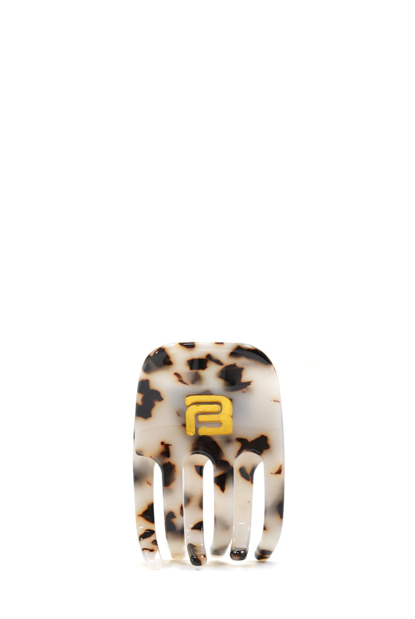 Barragán Monogram Hair Clip, Cream Marble