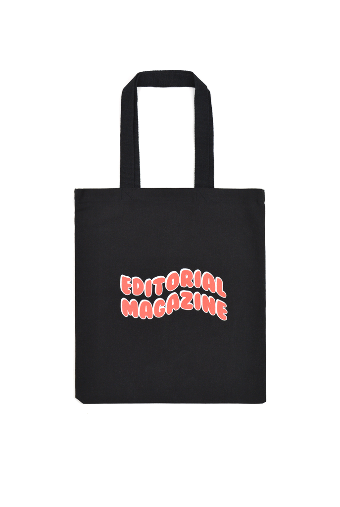 Editorial Magazine Bubble Tote, Black