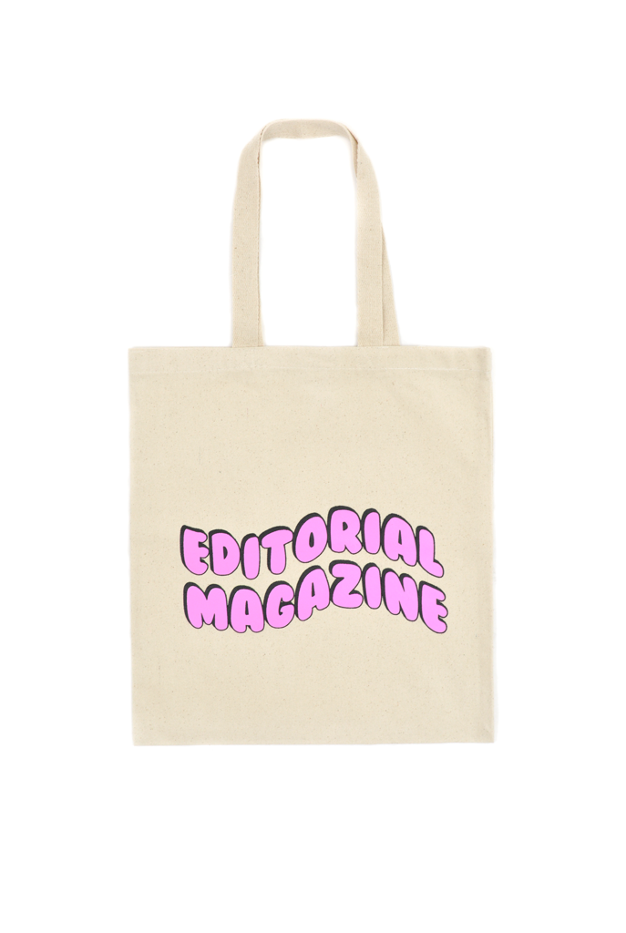 Editorial Magazine Bubble Tote, Natural