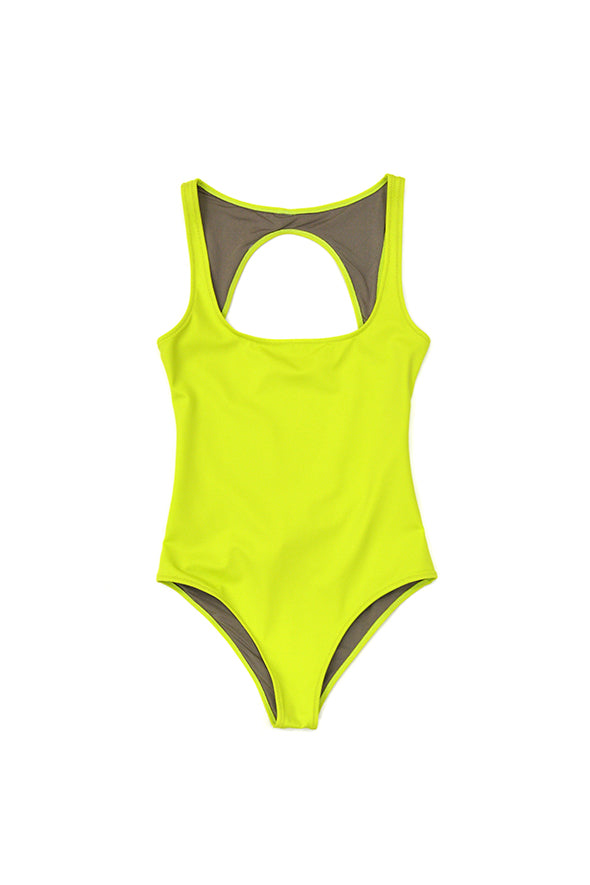 Fantabody Lya Swimsuit, Acid Green - EXCLUSIVE