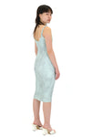 Gauntlett Cheng Elastic Snakeskin Dress