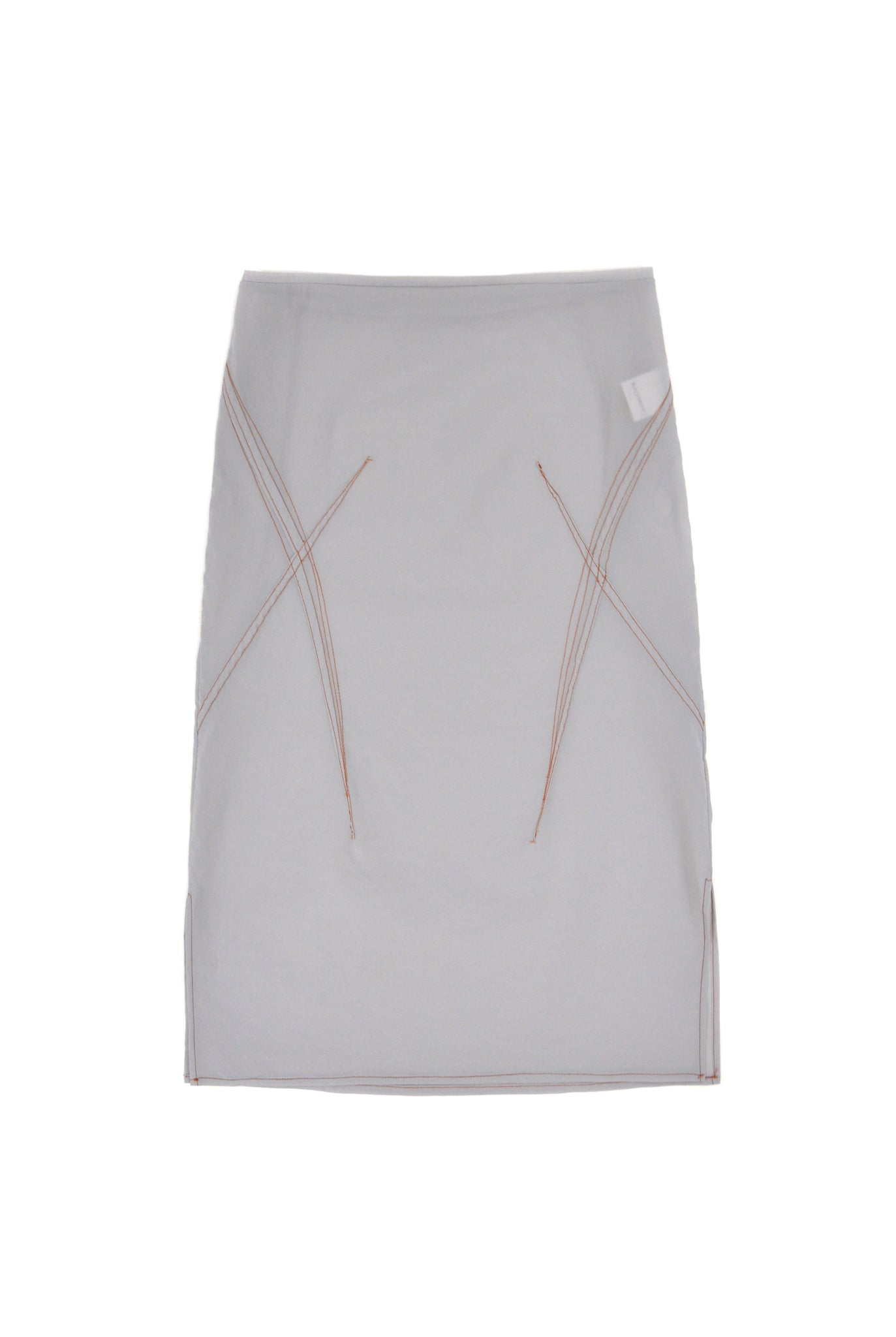 Gauntlett Cheng Sheer Darted Skirt