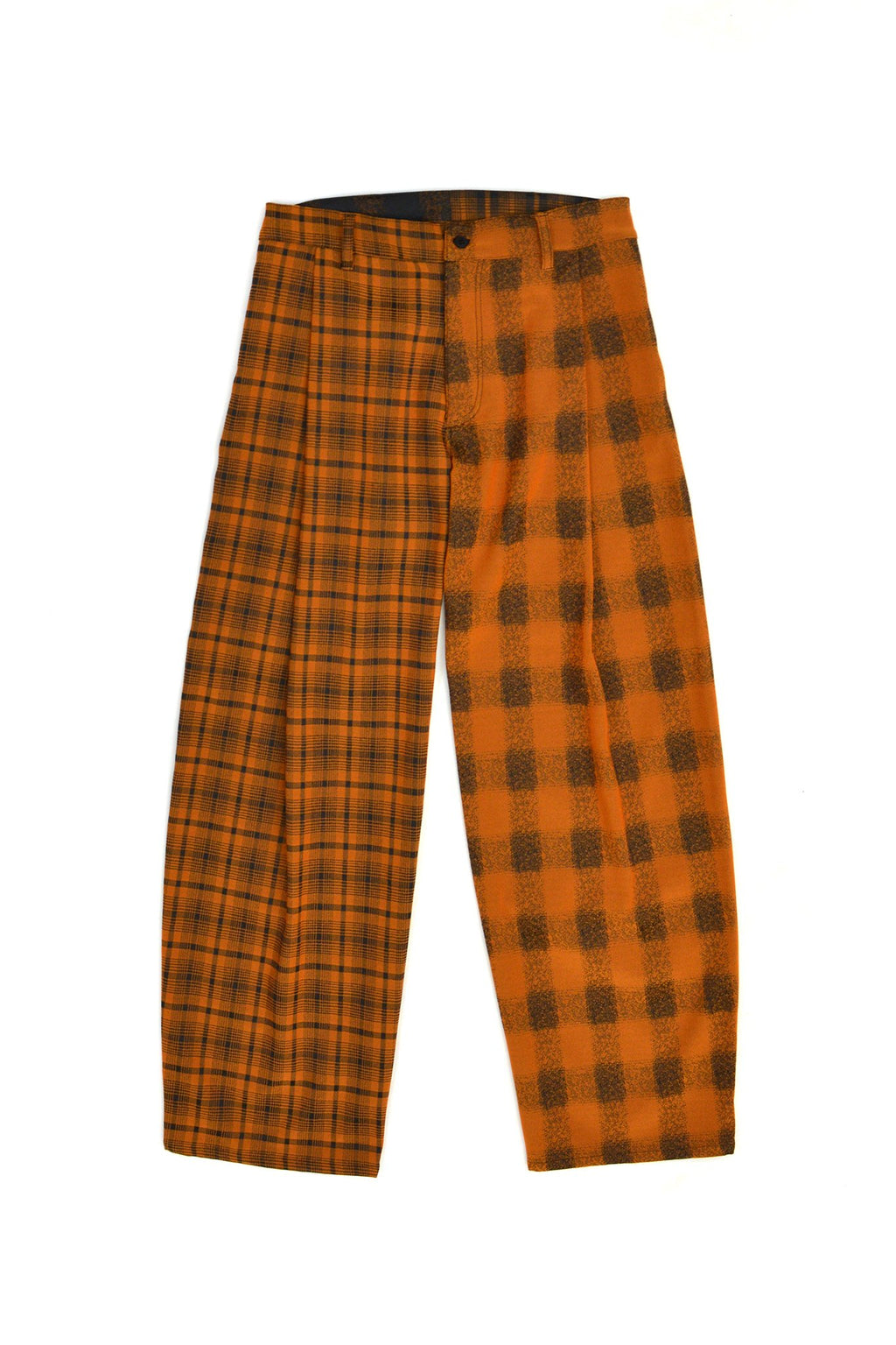 Gauntlett Cheng Double Plaid Trousers