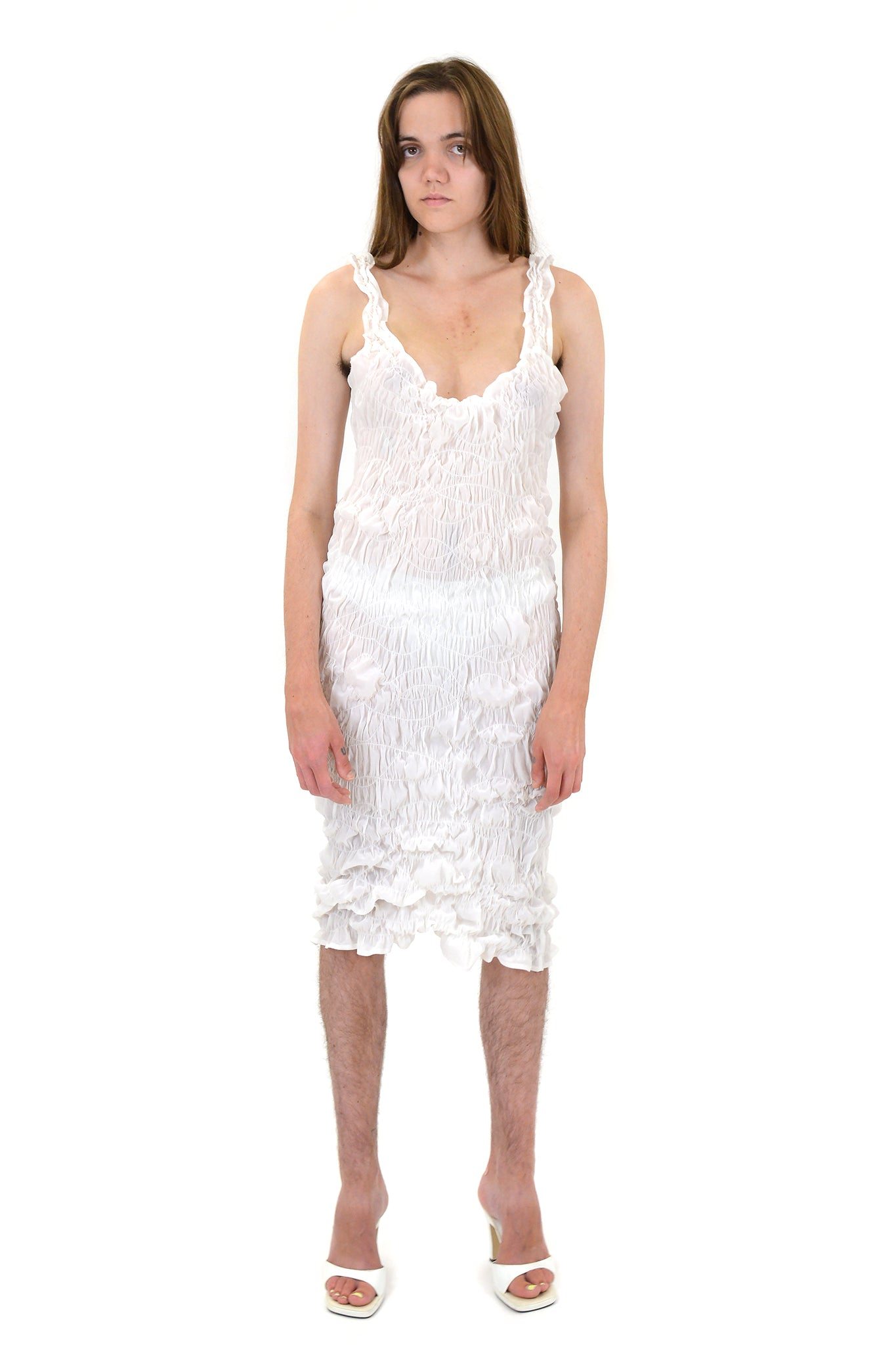 "Gauntlett Cheng ""Wet"" Gathered Dress"