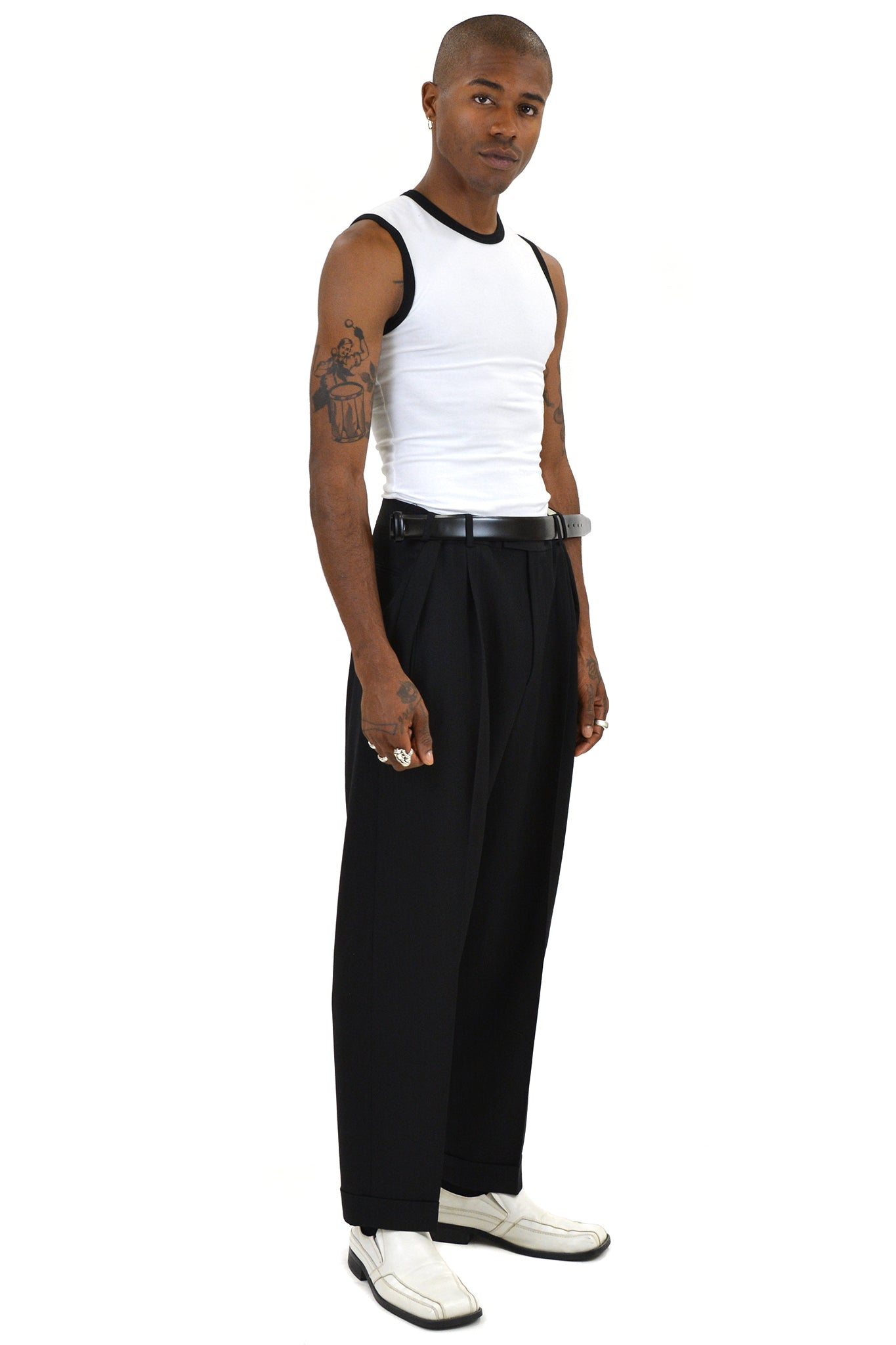 Magliano Super Pence Belt Trousers, Black