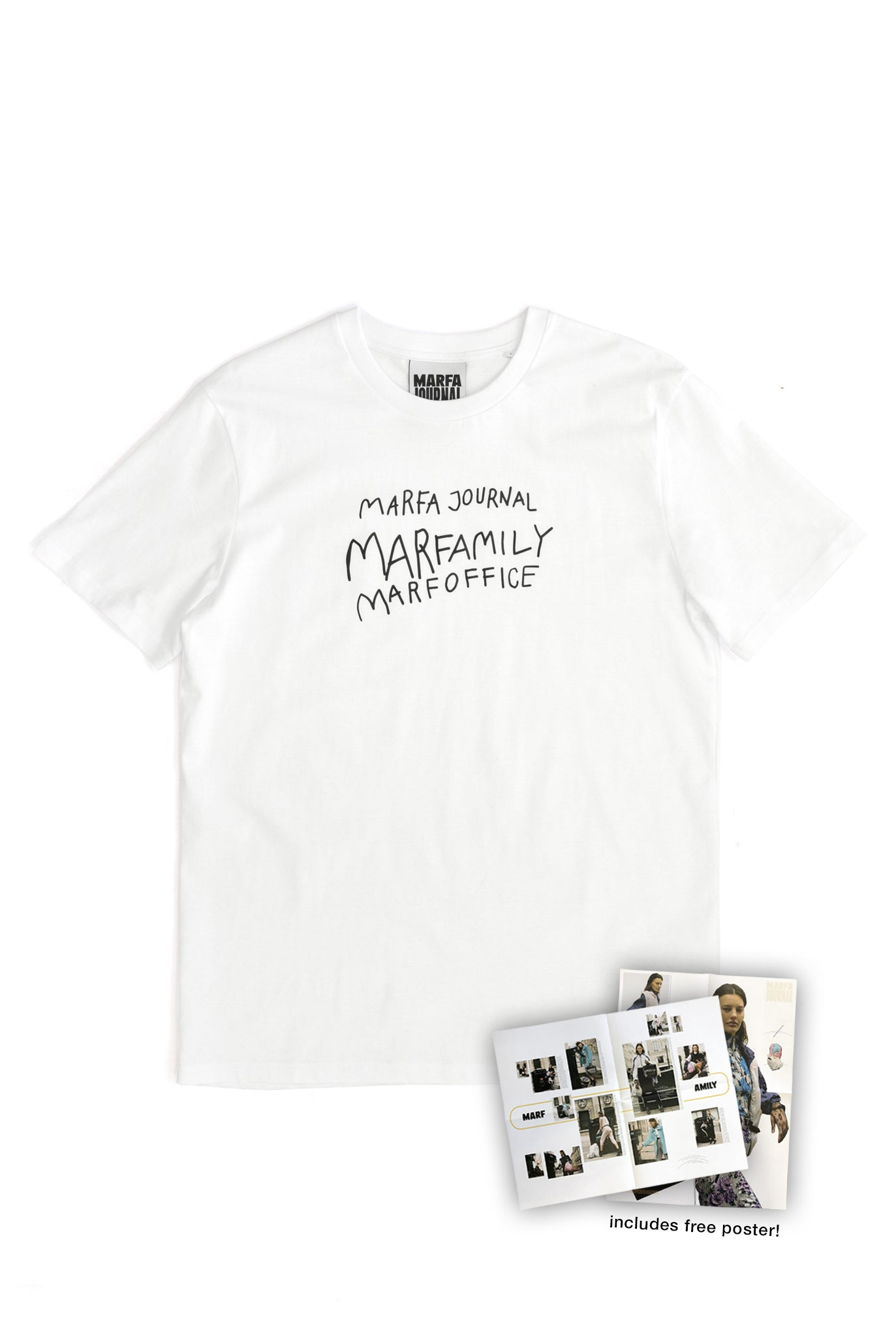 Marfa Journal Tee, White