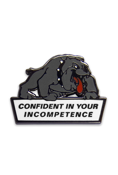 NO FUN Confident Dog Lapel Pin