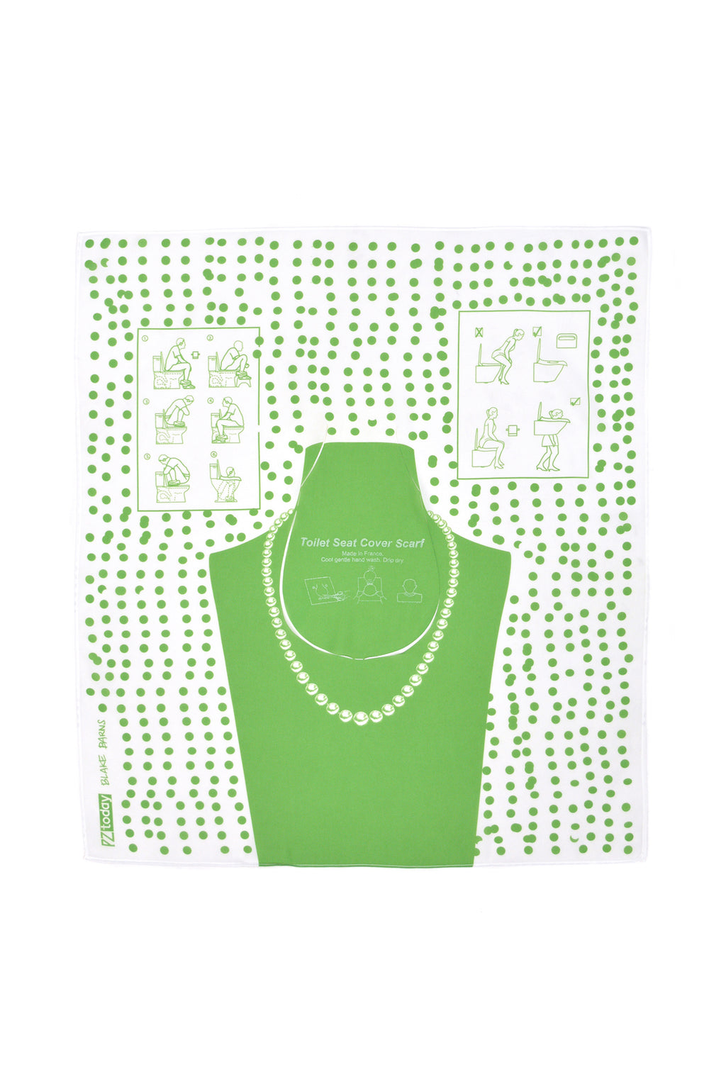PZtoday© Toilet Seat Cover Scarf, Green
