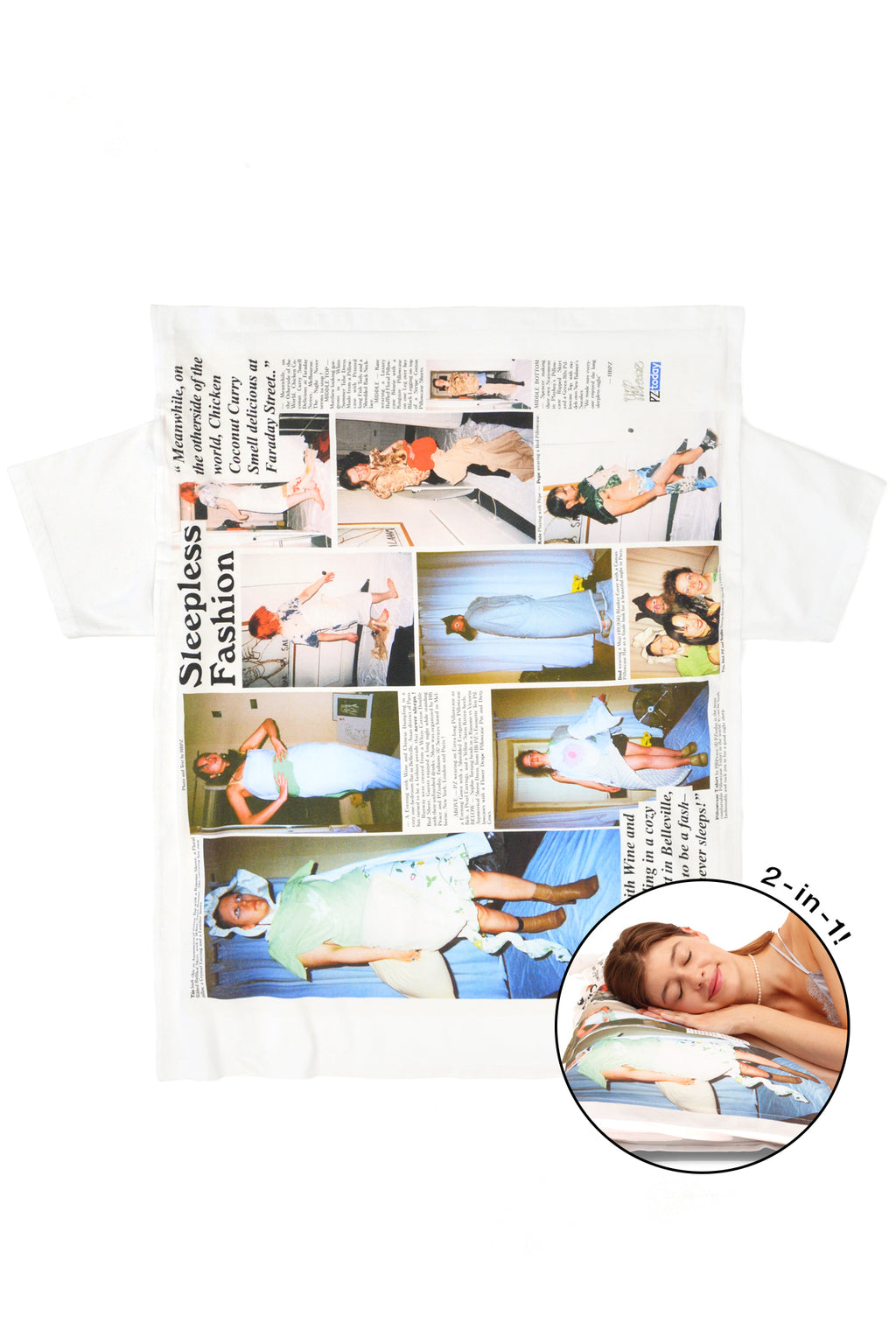 PZtoday© with HB Peace Pillowcase T-shirt