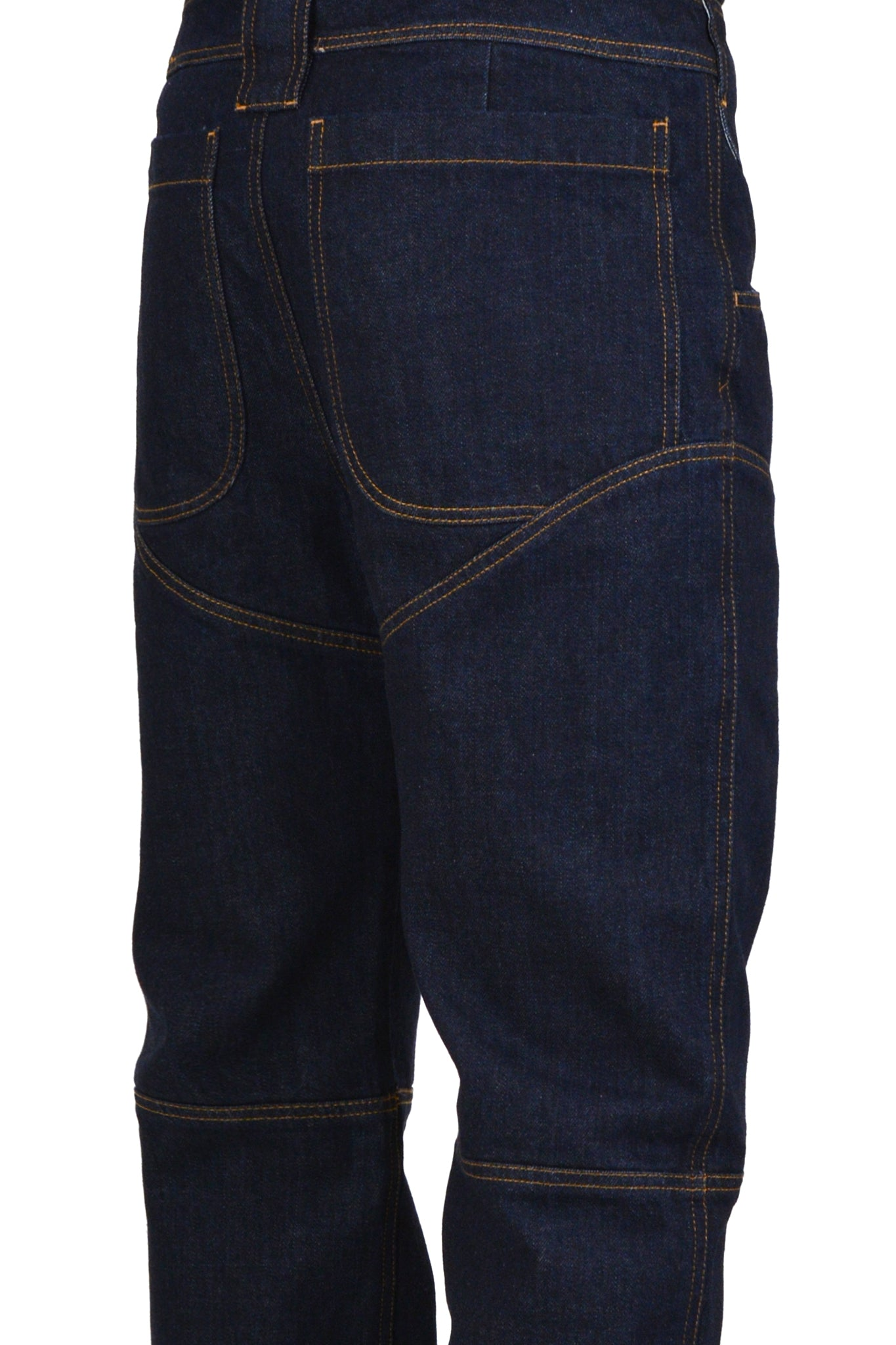 Telfar 3-Panel Straight Leg Jeans, Dark Denim