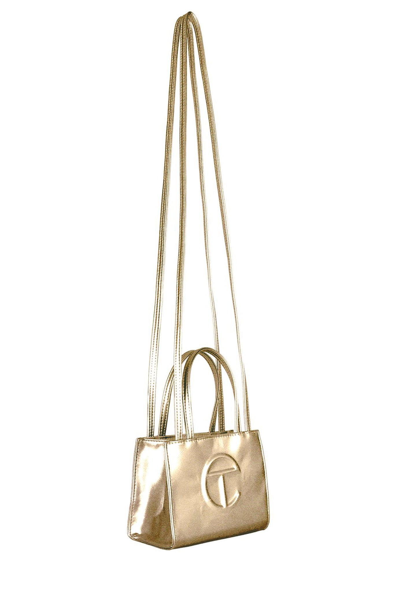 Telfar Small Shopping Bag, Gold