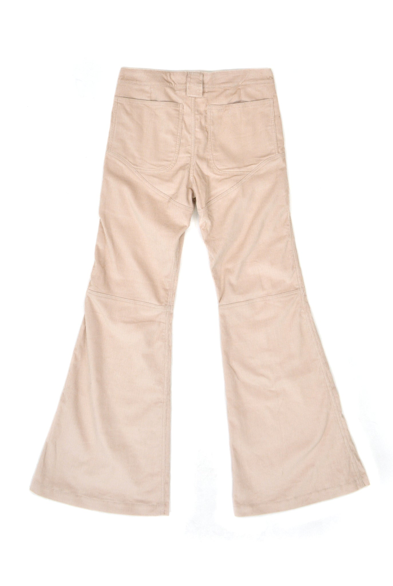 Telfar 3-Panel Boot-Cut Corduroy Pants, Beige