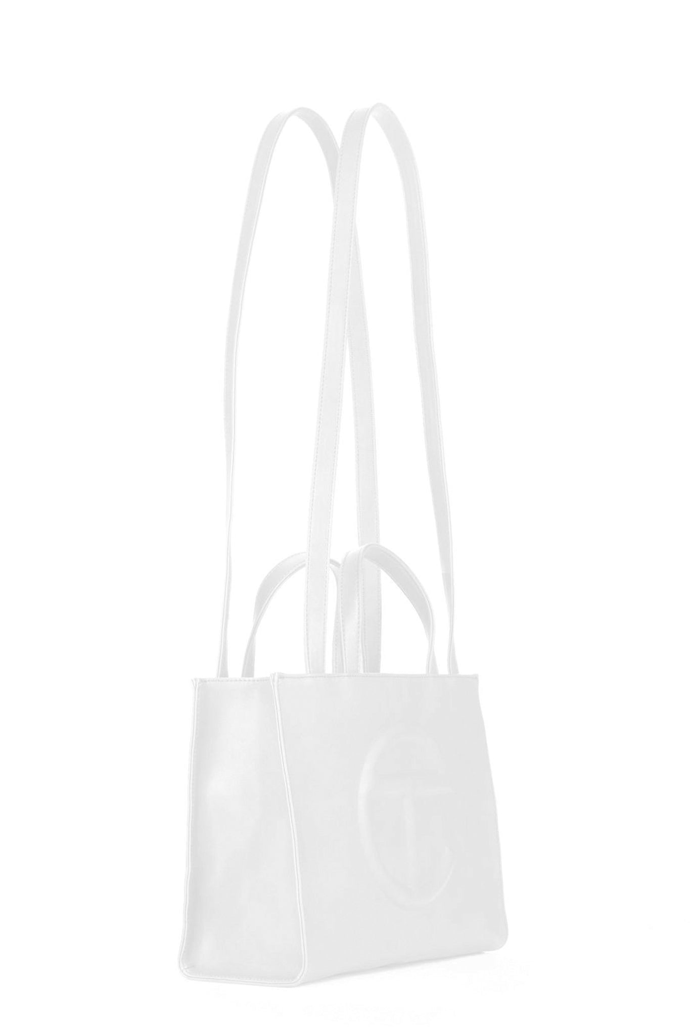 Telfar Medium Shopping Bag, White