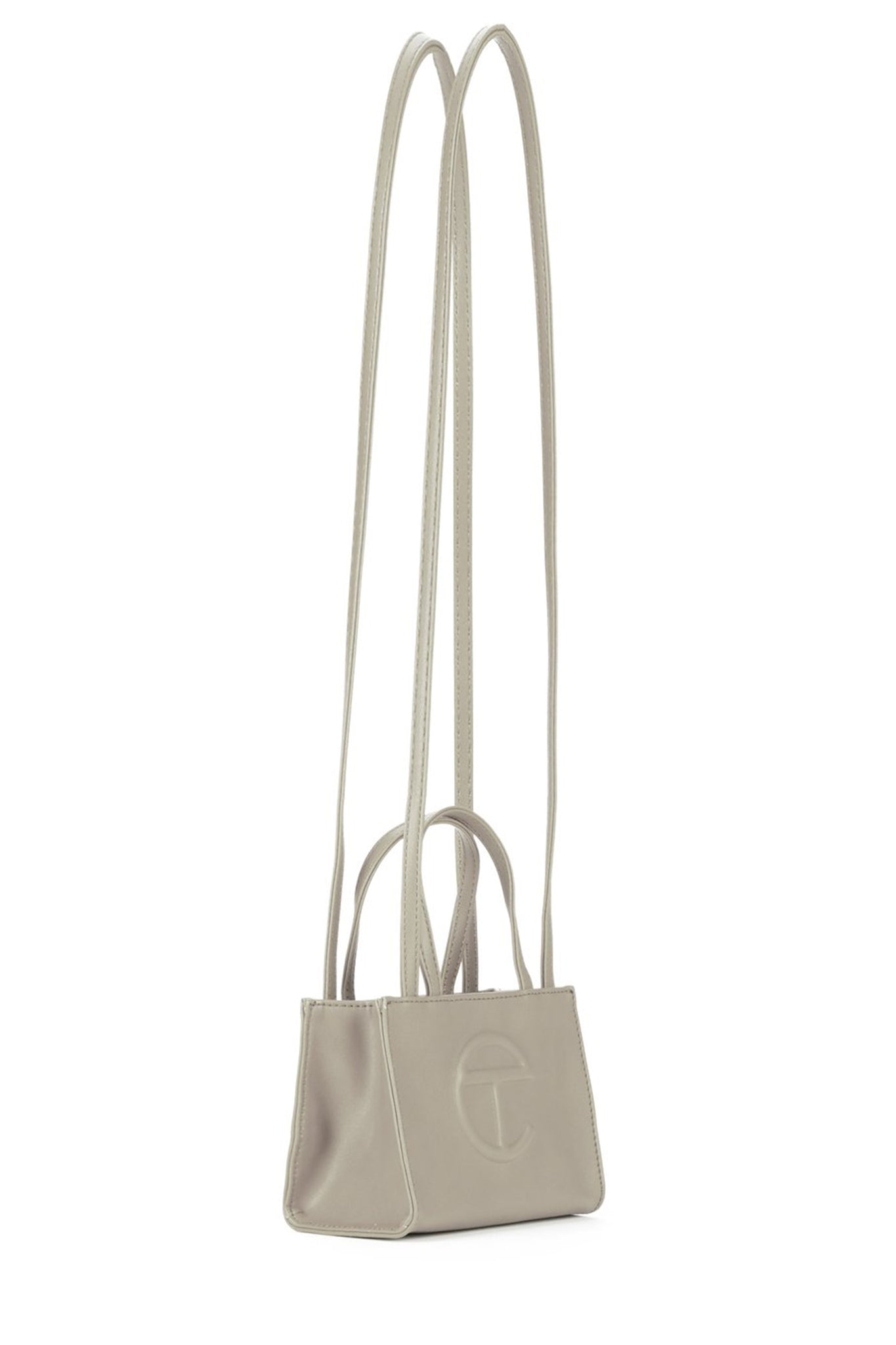 Telfar Small Shopping Bag, Grey