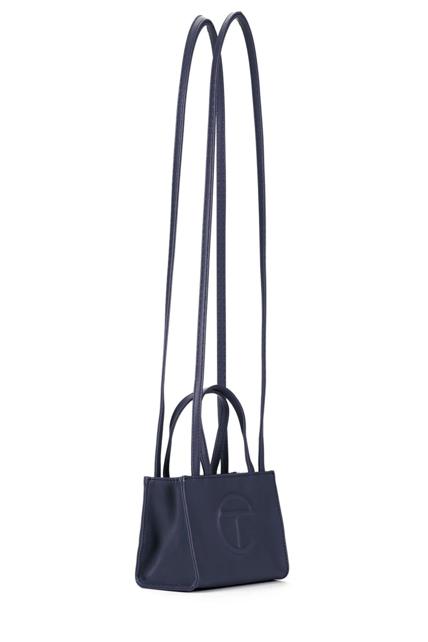Telfar Small Shopping Bag, Navy