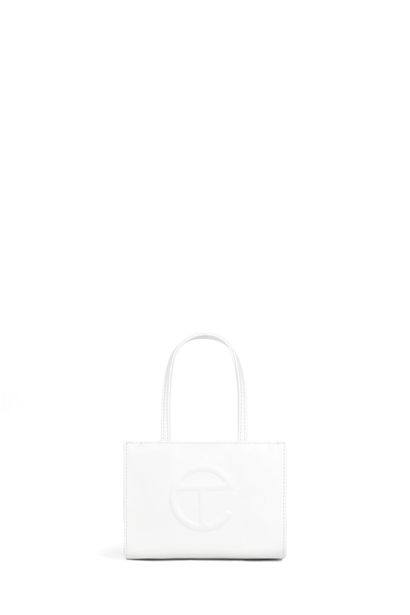 Telfar Small Shopping Bag, White