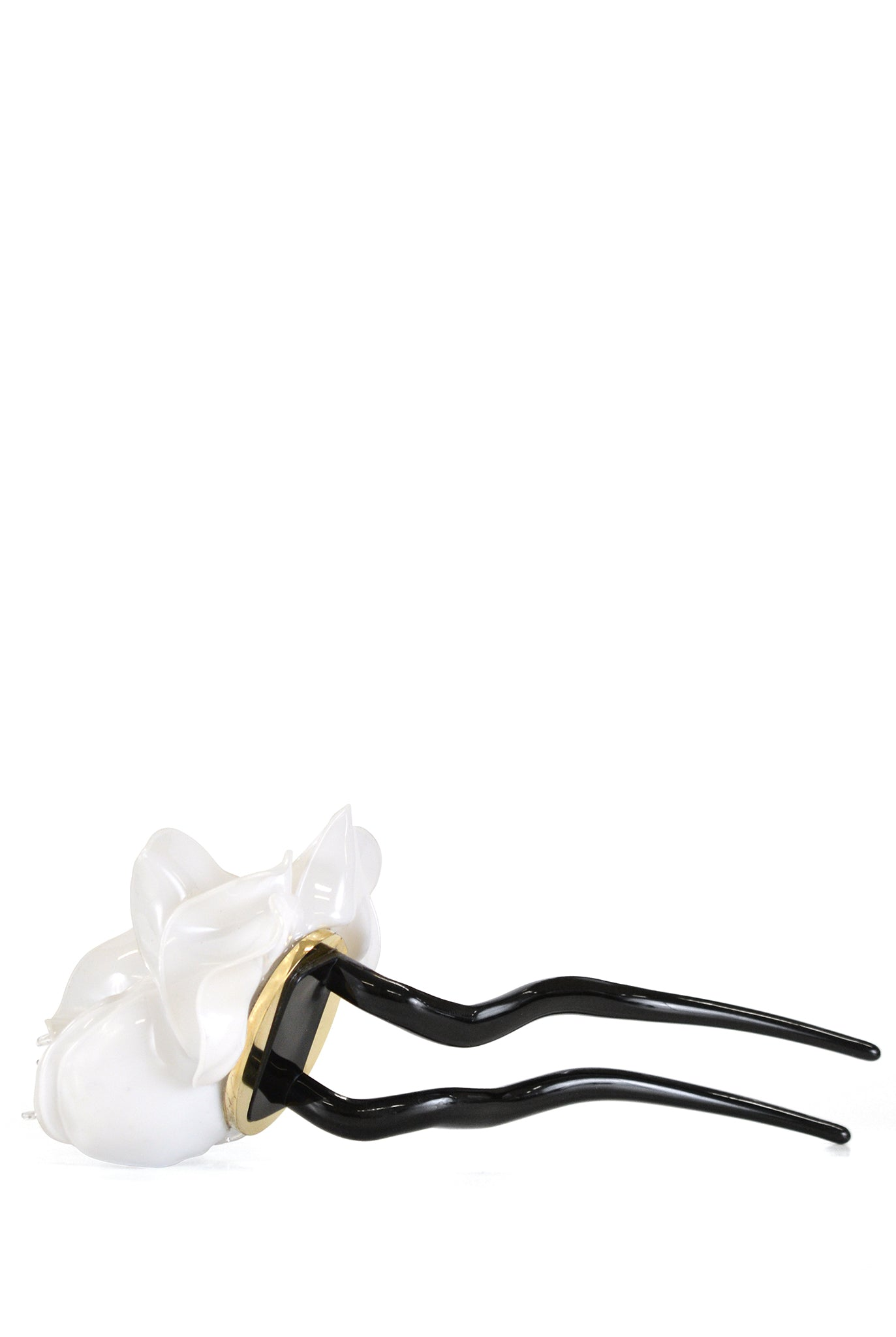 Tétier Bijoux Flower Hair Pin, White