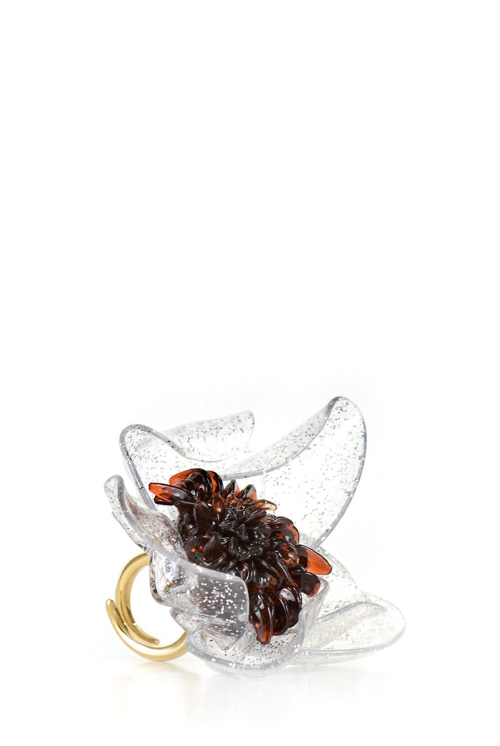 Tétier Bijoux Flower Ring, Clear