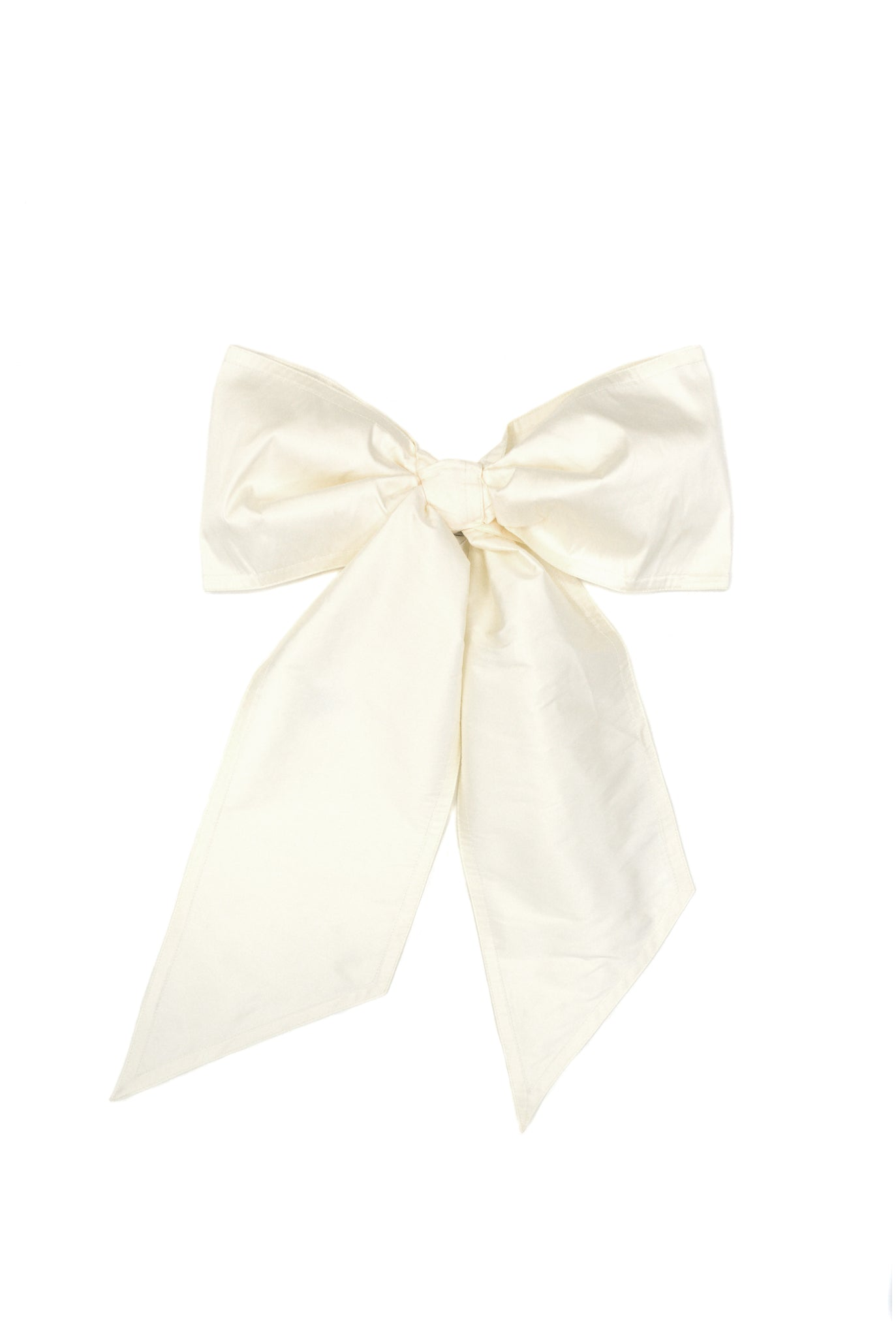 Vaquera Giant Hair Bow, Ivory