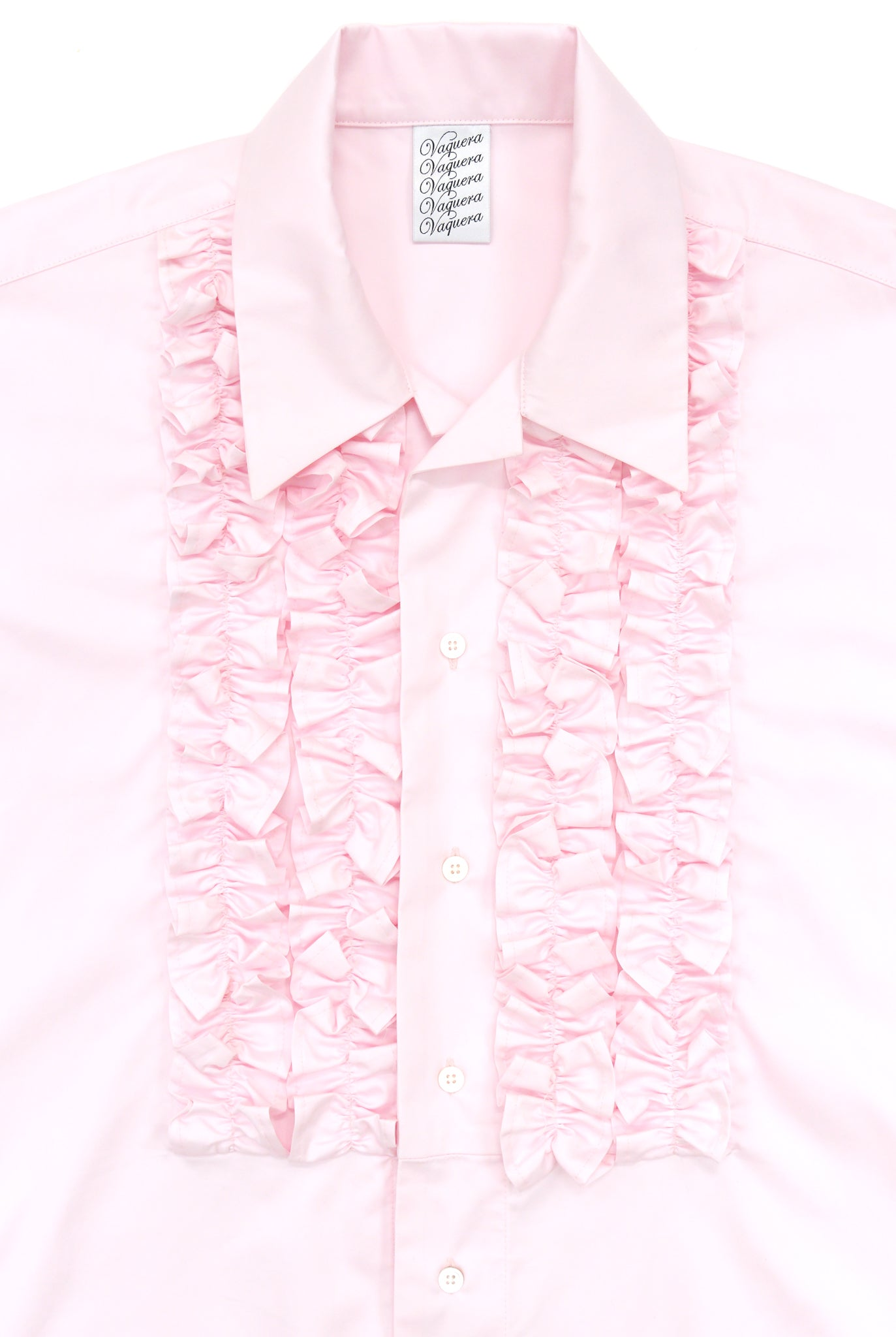 Vaquera Ruffled S/S Buttondown, Pink