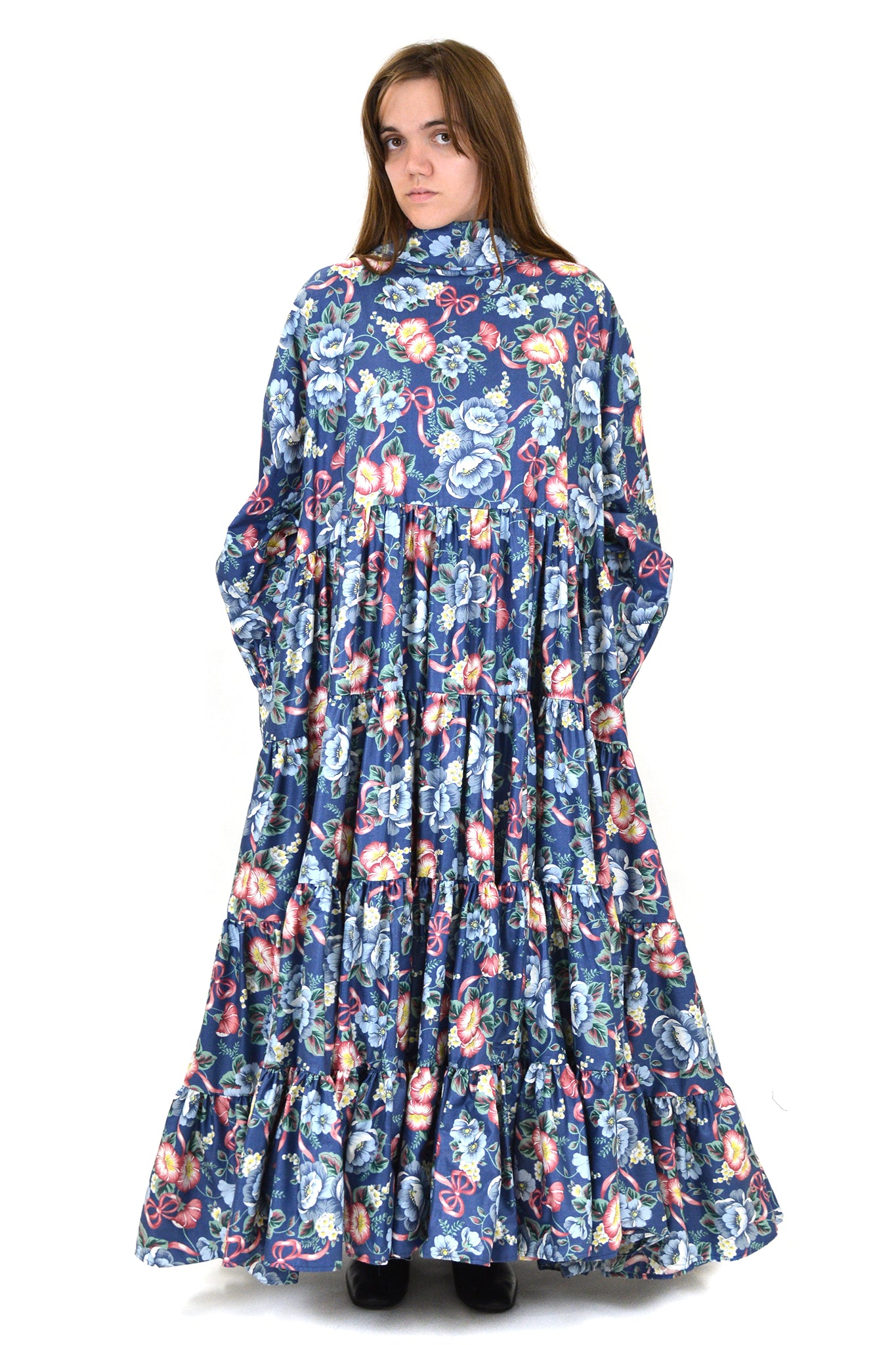 Vaquera Floral Dust Ruffle Dress