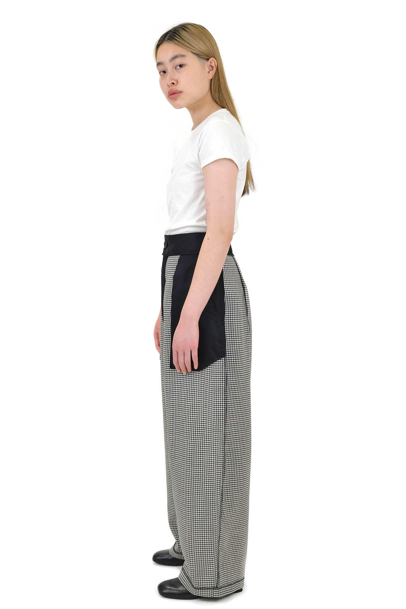 Vaquera Inside Out Houndstooth Trousers