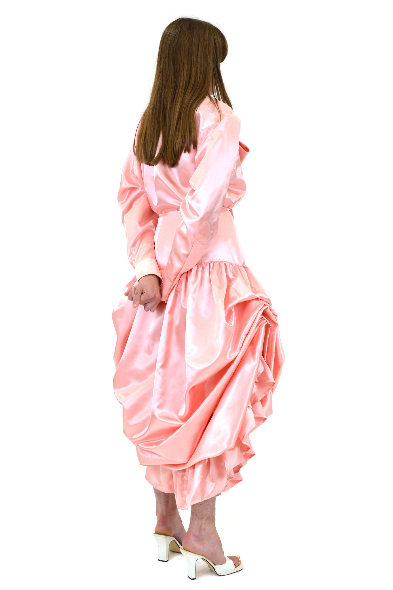 Vaquera Pink Satin Curtain Skirt