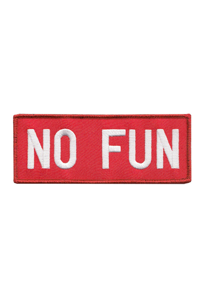 NO FUN Embroidered Logo Patch, Red