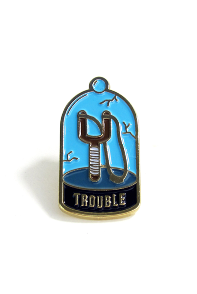 NO FUN Trouble Lapel Pin